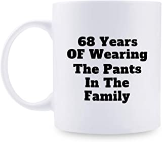 68th Anniversary Gifts - 68th Wedding Anniversary Gifts for Couple, 68 Year Anniversary Gifts 11oz Funny Coffee Mug for Couples, Husband, Hubby, Wife, Wifey, Her, Him, wearing the pants