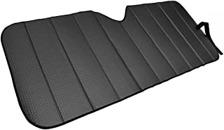 Motor Trend Front Windshield Sunshade - Black Accordion Folding Auto Shade for Car Truck SUV 58