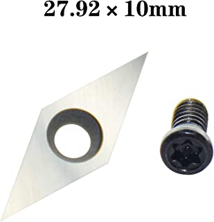 27.92mm Diamond Tungsten Carbide Replacement Cutter Inserts Planer Knives with Sharp Point fit for DIY Wood Lathe Turning Detailer Tools Kit or Woodworking Machine Tools Accessories 1pcs