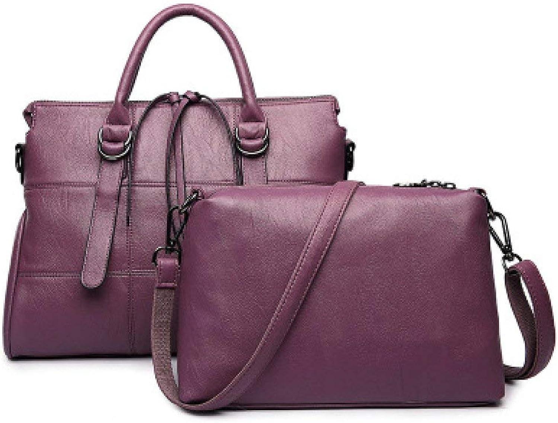 Huanglang Mode Frauen Umhängetaschen Stilvolle Stilvolle Stilvolle Umhängetasche Damenhandtaschen Europa Stickerei Big Bags Herbst Winter Nähen Zweiteilige Umhängetaschen (Farbe   lila, Größe   Einheitsgröße) B07Q1X4JWJ  Qualität u 484a9c