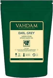 VAHDAM, Earl Grey Masala Chai Tea (50 Cups)   100% NATURAL SPICES   Black Tea With Bergamot Oil   Spiced Chai Tea Loose Leaf   Earl Grey Tea   Brew Hot Tea, Iced Tea or Chai Latte   3.53oz