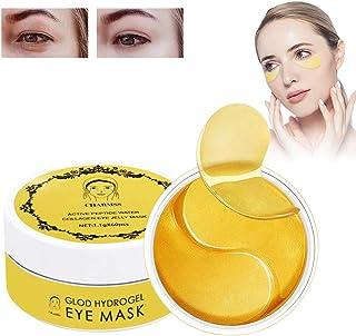 Mascarilla para los ojos, Parches para los ojos, Máscara para Ojos De Colágeno, Ojos Parches, Anti Arrugas,Reduce Las Ojeras, aclarar las arrugas finas de Ojos, (60pcs-oro)