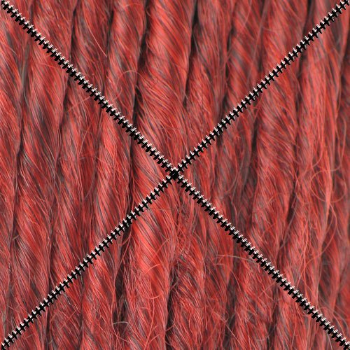 Doctored Locks Extra Long Premade Synthetic Dreadlocks - 22 inch Double Ended Hair Extensions - Red/Burgundy