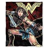 DC Comics Wonder Woman, 'Ya Okay' Silk Touch Throw Blanket, 50' x 60', Multi Color, 1 Count