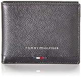 Tommy Hilfiger - Business Leather Mini Cc Wallet, Carteras Hombre, Negro (Black), 1x1x1 cm...