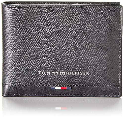 Tommy Hilfiger Business Leather Mini CC Wallet, Portafoglio Uomo, Nero (Black), 1x1x1 centimeters (W x H x L)