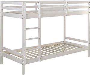 Homestyle4u 1431, Etagenbett für Kinder inkl. Lattenrost, Kinderbett 90x200 weiß, Holz