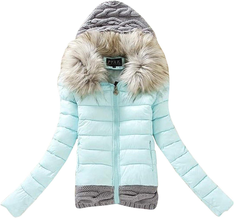 Fashion Women Casual Thicker Jacket Big Fur Colla Winter Warm Slim Overcoat