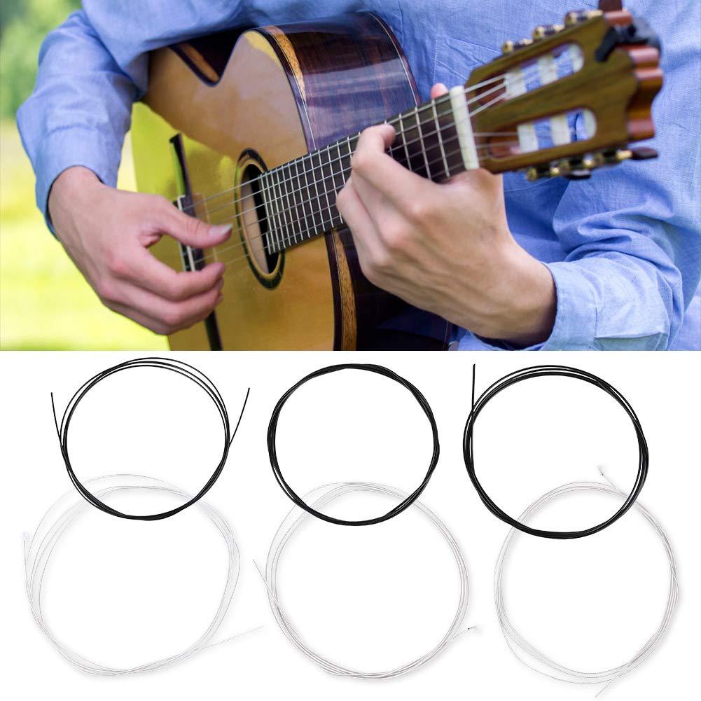 Fafeims Cuerdas de Guitarra clásica, 6 Piezas Suave y Duradera ...