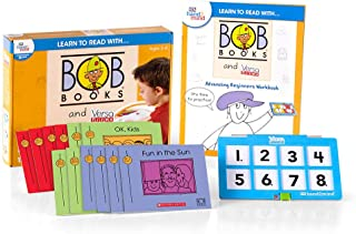 hand2mind Learn to Read with Bob Books and VersaTiles - Advancing Beginner Set (Ages 3-6) | Advancing Beginner Game, 12 BOB Books, 20 Activities & 1 Answer Case, Award Winning