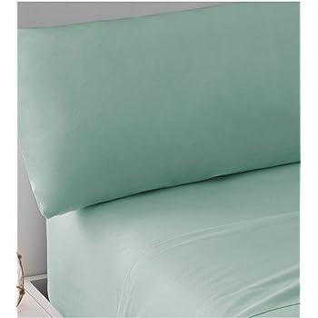 PimpamTex – Juego de Sábanas 100% Algodón Percal para Cama IT – (210 x 270 cm, Verde Tiffany): Amazon.es: Hogar