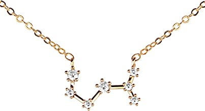 gold scorpio constellation necklace