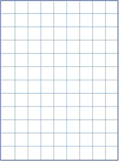 School Smart Graph Paper, 1 Inch Rule, 9 x 12 Inches, Manila, Pack of 500