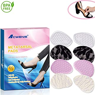 Metatarsal Pads- Ball of Foot Cushions for Women High Heels - One Size FitsAllforPain Relief, 4 Pairs in Multiple Colors