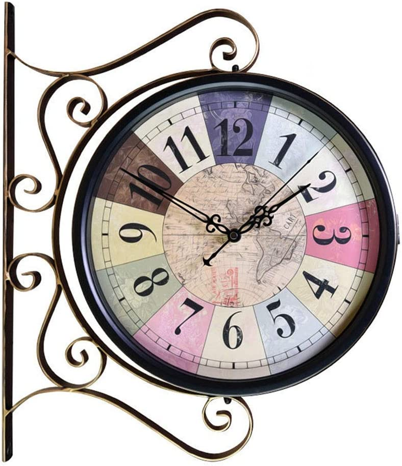 DWE-Watch Shop Double-Sided Wall Clock Wr online shopping Manufacturer OFFicial shop Vintage Bracket Indoor