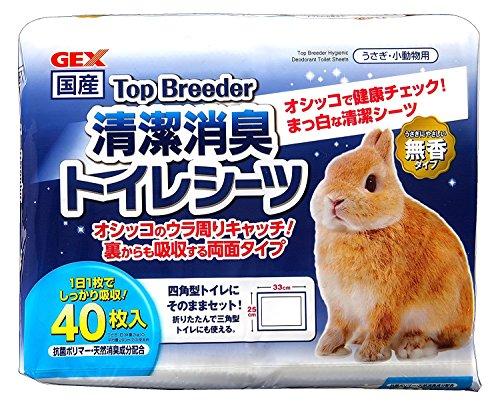 Gex Top Bleeder Clean Deodorizing Toilet Sheets, 40 Sheets