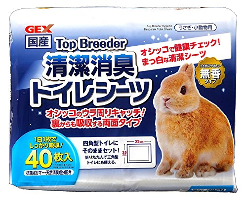 Gex Top Bleeder Clean Deodorizing Toilet Sheets, 40 Sheets