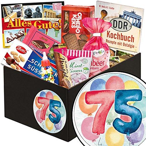 Geschenkidee 75. Geburtstag / DDR Süßigkeiten-Box / 75 Geburtstag Geschenke