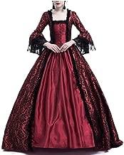 LY-VV Womens Gothic Victorian Lolita Dress Square Collar Velvet Halloween Witch Dress
