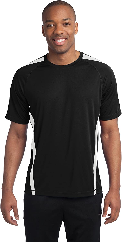 SPORT-TEK Men's Tall Colorblock PosiCharge Competitor Tee 3XLT Black/White