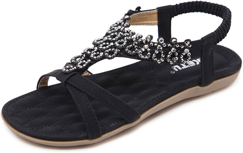 Tuoup Women's Leather Fashion Sandles Flat Sandals