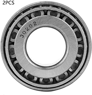 Tapered Roller Bearing, 2pcs 30202 Single Row Tapered Roller Bearing Cone Set 15mm Bore 35mm OD 11.75mm Thickness