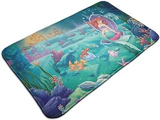 Duwamesva Bath Mat- Princess Ariel Design, Non Slip Absorbs Soft Rug Carpet for Indoor Outdoor Patio