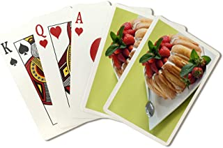 Strawberry Charlotte - Photography A-93910 (Playing Card Deck - 52 Card Poker Size with Jokers)