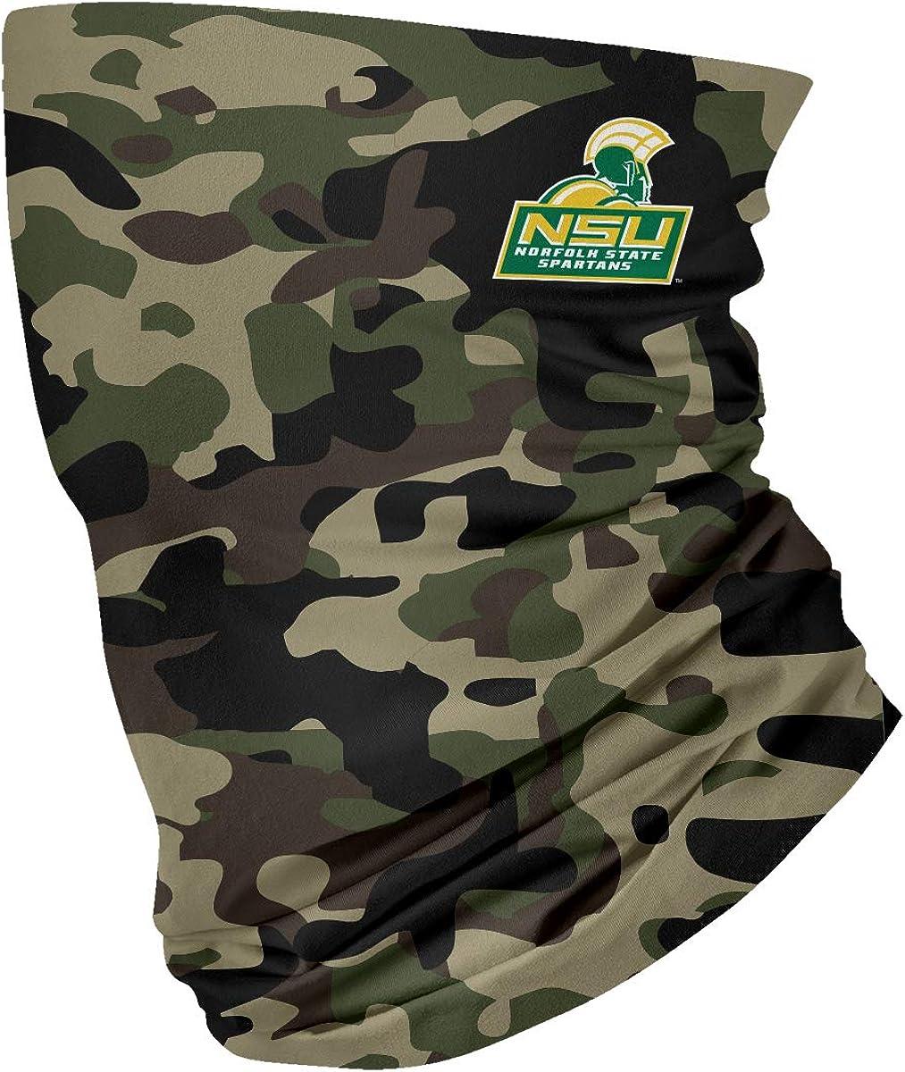 Norfolk State Spartans Green Neck Gaiter Camo print Vive La Fete