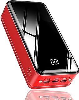 Power Bank - 6 Port Compact 50000mAh Ultraportable Telefonladdare med LED-digital skärm och externt LED-batteri för airpod...