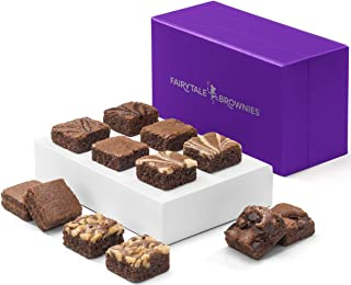 Fairytale Brownies Magic Morsel Dozen Gourmet Chocolate Food Gift Basket - 1.5 Inch x 1.5 Inch Bite-Size Brownies - 12 Pieces - Item HF412
