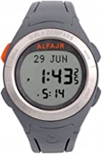Alfajr WQ-18 Grey Qibla Compass Nimaz/Prayer/Azan Watch with Rubber Strap - for Men/Women