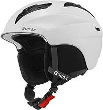 Gonex Ski Helmet, Winter Snow Snowboard Skiing Helmet with Safety Certificate for Men, Women & Young, Matte Black/White/Gray/Blue, M/L Size