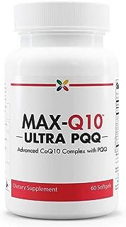 Advanced CoQ10 Complex with Pyrroloquinoline Quinone (PQQ) - MAX-Q10 Ultra CoQ10 with BioPQQ - Stop Aging Now - 60 Softgels