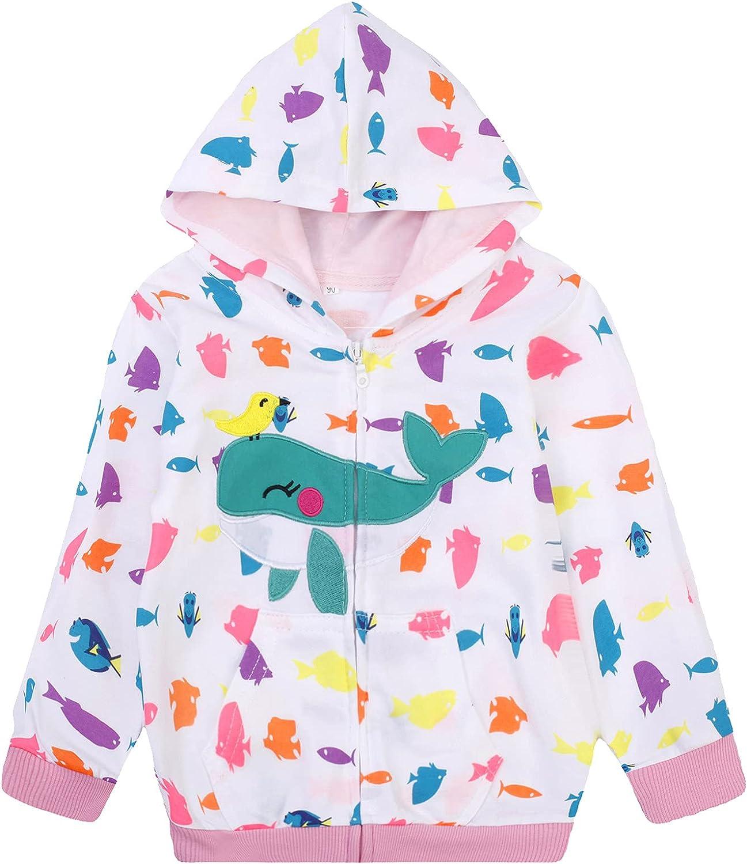 Baby Girl Zip-up Jacket Toddler Hoodie Sweatshirt Winter Coat Fall Outwear Size 2t-7t