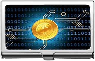 Business Name Card Holder Wallet,Money Bitcoin Coin Business Card Holder Wallet Credit Card Id Case