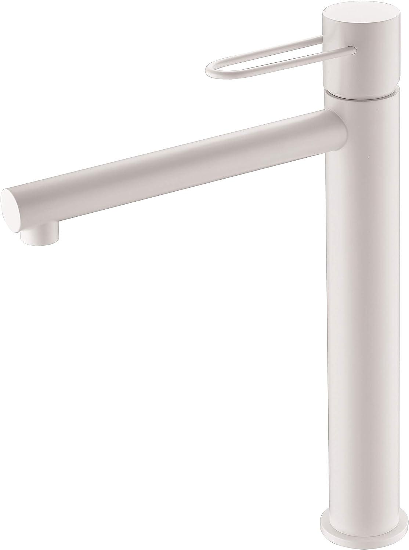 Grifo lavabo caño alto Imex Milos Blanco BDY027-3BL