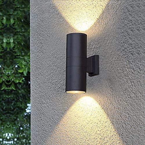 LED Fuera de la lámpara de Pared Lámpara Moderna Lámpara de Pared Interior para Exteriores IP65 Foco de Aluminio Impermeable para jardín Terraza Balcón Baño