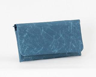 SIWA(シワ) 長財布 特殊な和紙で作られた軽くて風合いの良い財布 ブルー