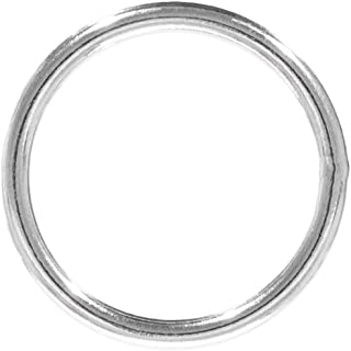Craft County Welded Steel O-Rings - Great for DIY Projects, Decoration & Art - Multiple Diameters - Variety of Pack Sizes