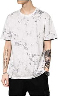 MogogN Men's Floral Printed Summer Crewneck Short Sleeve Cotton Shirts Tops
