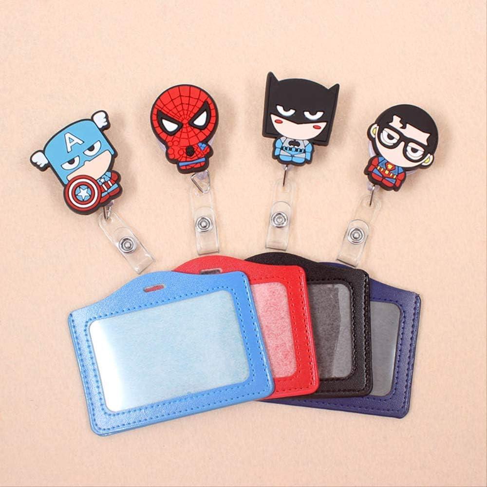 Porta Badge da Collo 1 Set Avengers Spiderman Bobina Per Badge Retrattile Studente Di Alta Qualit/à Infermiera Id Nome Badge Porta Badge Forniture Per Ufficio 10