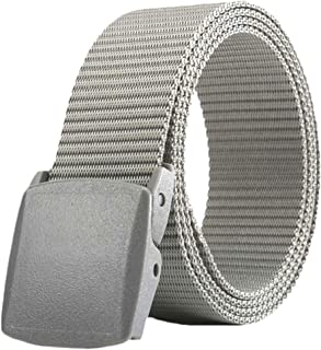 a9f9986a34840 ZORO Army Tactical Waist Belt Hole free Plastic Buckle Nylon Canvas Male  Men Survival Strap,