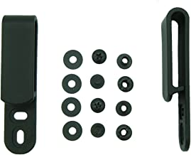 Quick Clip Pro Tough Holster Clips, Adjustable Cant for IWB OWB Kydex, Leather, Hybrid Holster Making. Tuckable Black Plastic with 1/4