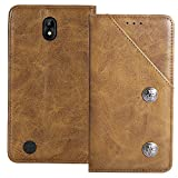 YLYT Shockproof - Brown Flip Leather Retro Cover With Stand