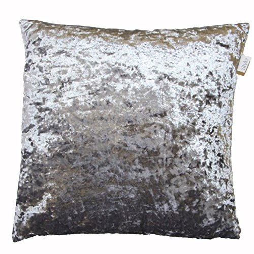 Supplied by Maple Textiles LUXURIOUS VELVET CUSHION COVER SILVER/GREY LARGE
