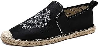 MAIAMY Hommes Chaussures décontractées à Talons Bas Chaussures en Toile Mode Confortable Chaussures Plates légères pour Ch...