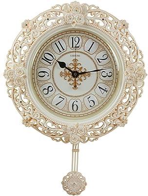ハング- ウォールクロック、居間の寝室のクォーツ時計のための静かな古典的な時計非刻々と続く電池の壁時計 (色 : B)