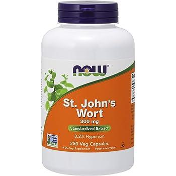 NOW Supplements, St. John's Wort (Hypericum perforatum) 300 mg, Standardized Extract, 250 Veg Capsules