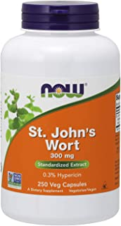 NOW Supplements, St. John's Wort (Hypericum perforatum) 300 mg, Standardized Extract, 250 Veg Capsules
